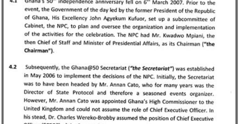Read or download a pdf copy of the Ghana@50 probe commission's Executive Summary