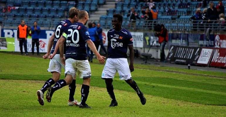 Ghanaian midfielder King Osei-Gyan scored for Viking on Saturday