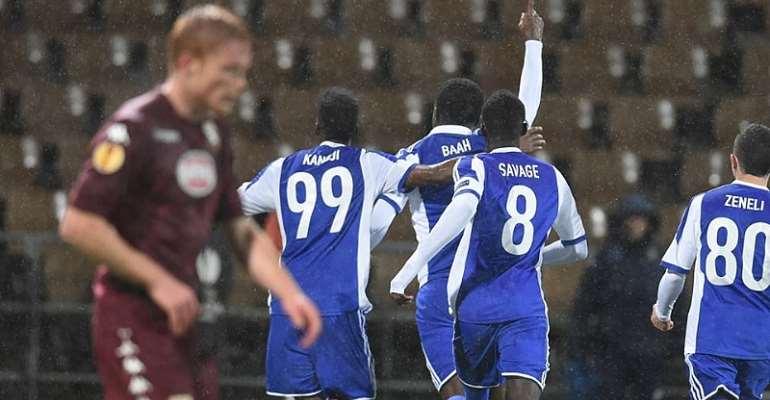 Gideon Baah: Ghanaian defender scores to help HJK Helsinki defeat Torino in Europa League