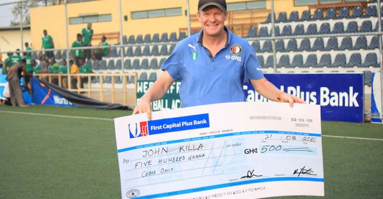 WAFA SC confirm John Killa's exit as head coach