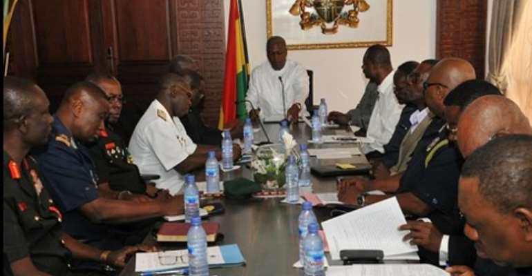 President Mahama meets security chiefs