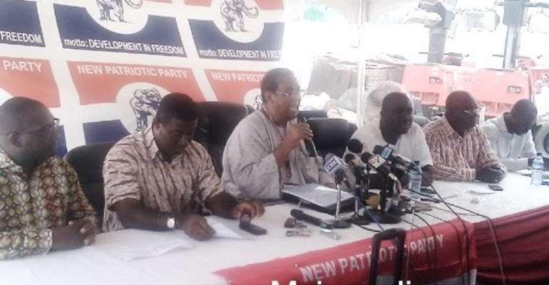 Flashback: Jake Obetsebi Lamptey addressing a press conference