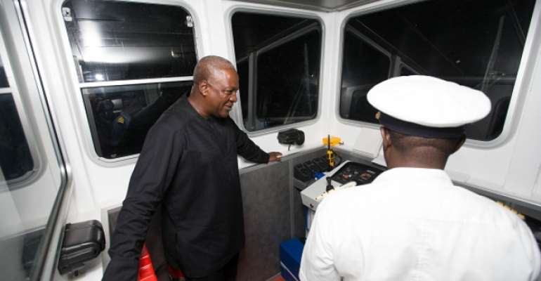 President Mahama commissions  two water vessels to round up E/R tour