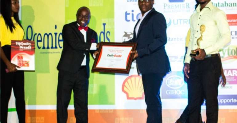 DAILY GUIDE Wins Best Brand Award