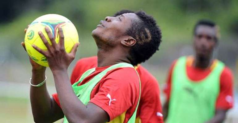 Asamoah Gyan is struggling with a suspected hamstring injury