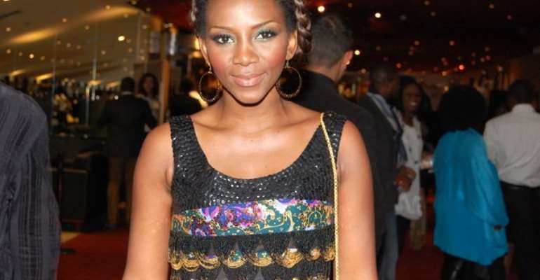 Spotted: Genevieve Nnaji at the Premiere of 'Mirror boy' in London