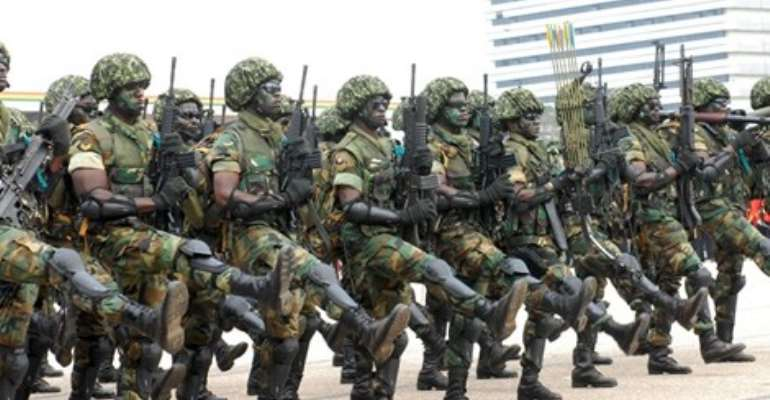Heavily Armed Soldiers & Police Arrest People, Ransack Homes & Destroy Properties In Kumawu