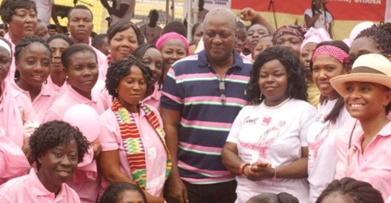 Vice President John Mahama in a group photograph with the organisers
