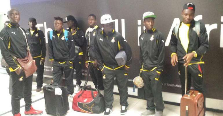 Local Black Stars at the OT Airport in Johannesburg.