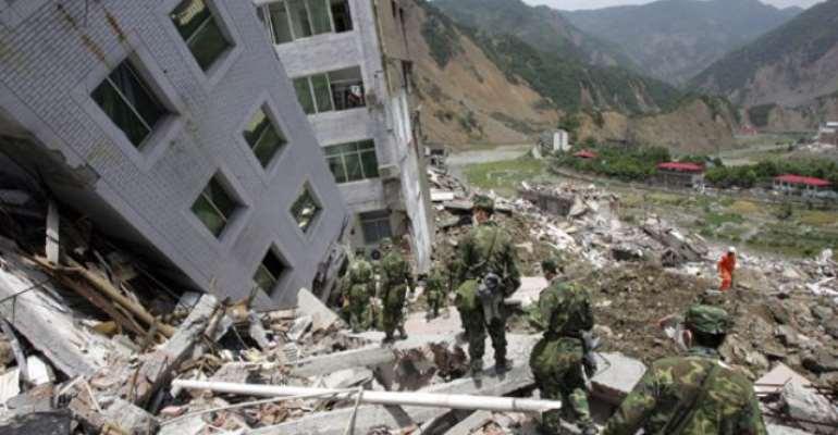 Hills earthquake disaster