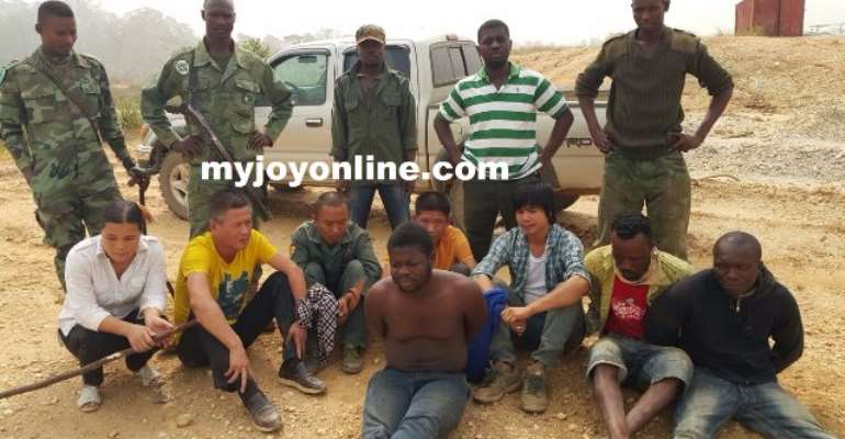 The illegal miners after their arrest