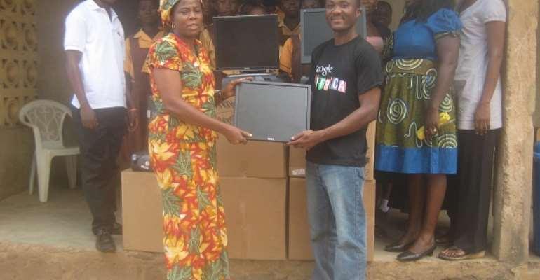 AIR DONATES COMPUTERS IN MADINA