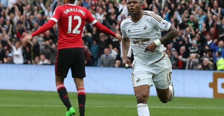 Photos: Andre scores again as Swansea finish off Man United