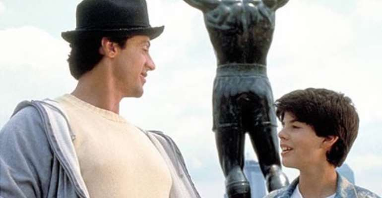 Sage starred aged 14 as Rocky Balboa's son in Rocky V