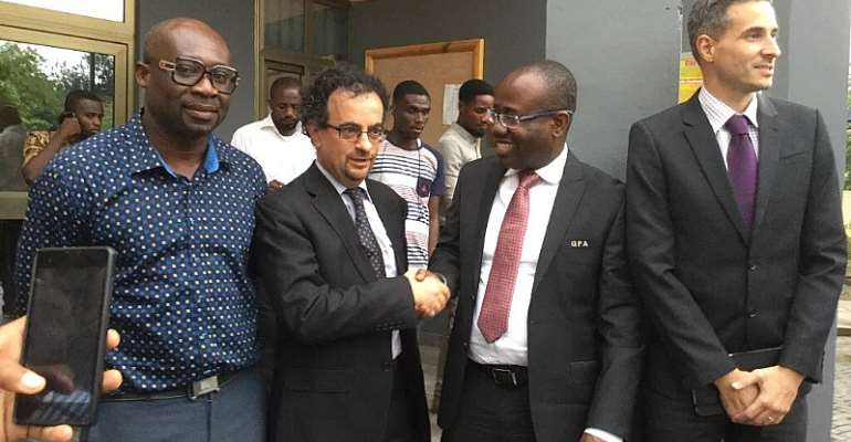 British High Commissioner Jon Benjamin takes a swipe at Sports Journalist; challenges them to boldly publish names of corrupt sports personalities