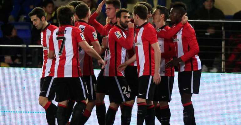 Inaki Williams has been joined by his team-mates to celebrate