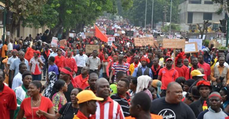 Labour groups hold mammoth demonstration today over fuel, utility hikes