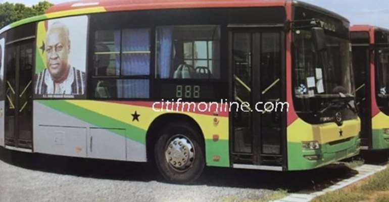 Branding 116 buses cost ₵3.6m because artistic work is expensive - Minister