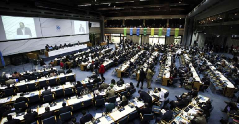 Climate talks produce first draft for possible Paris Agreement