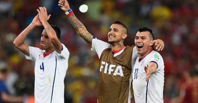 High hopes: Arturo Vidal: Chile can reach the World Cup final