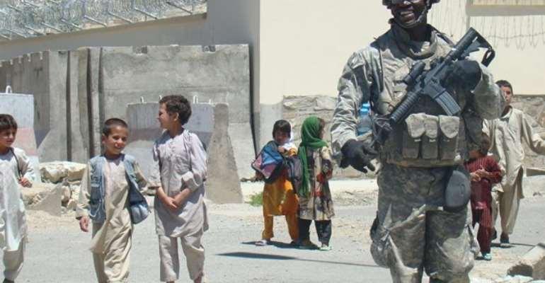 US based Ghanaian soldier leads walk for education in Ghana