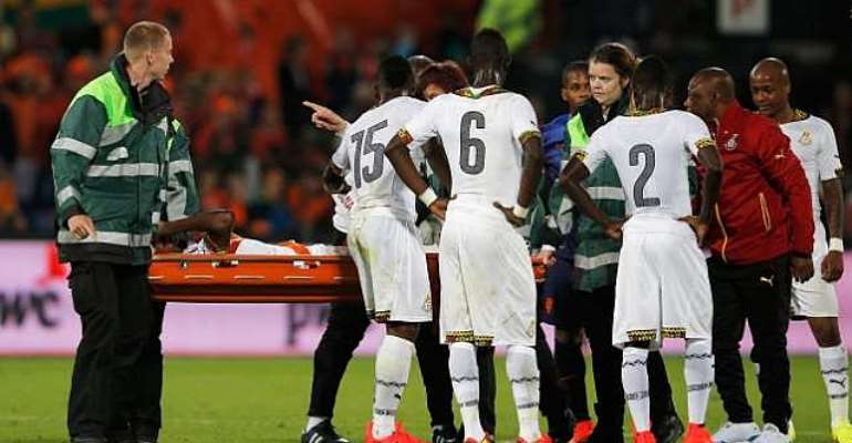 End of the road: Jerry Akaminko ruled out of World Cup