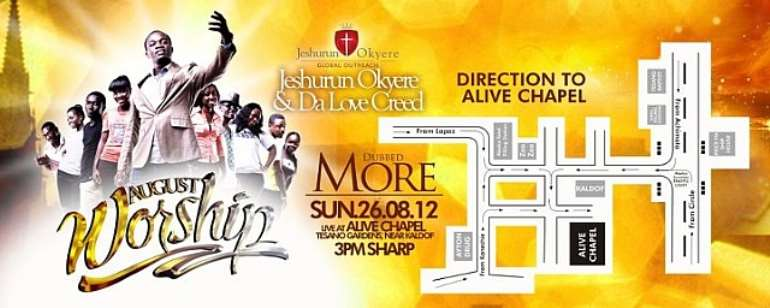AUGUST WORSHIP COMES TO ALIVE CHAPEL THIS SUNDAY