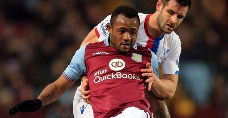Jordan Ayew in action for Aston Villa