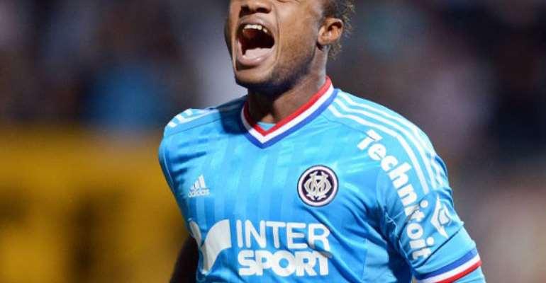 Jordan Ayew scored a consolation for Marseille