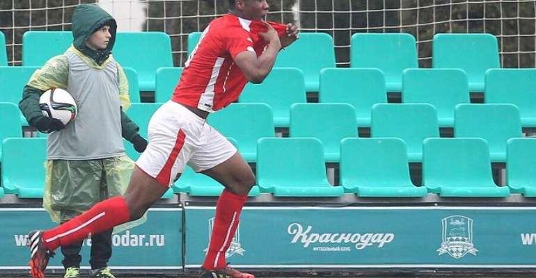 Kevin Danso celebrates his goals for Austria