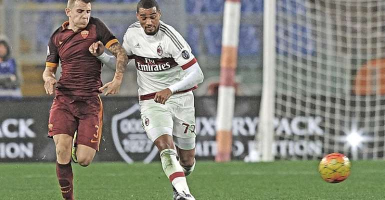 Kevin-Prince Boateng returned to Milan on Saturday