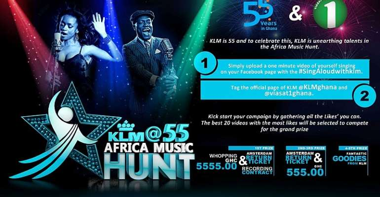 KLM Royal Dutch Airlines And Viasat1 Launch Klm@55 Africa Music Hunt