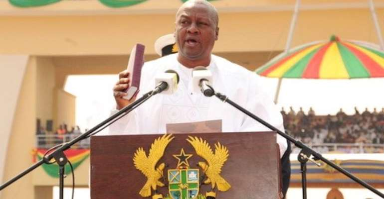 Prez Mahama warns 'Galamseyers' - Quit now or we'll flush you out