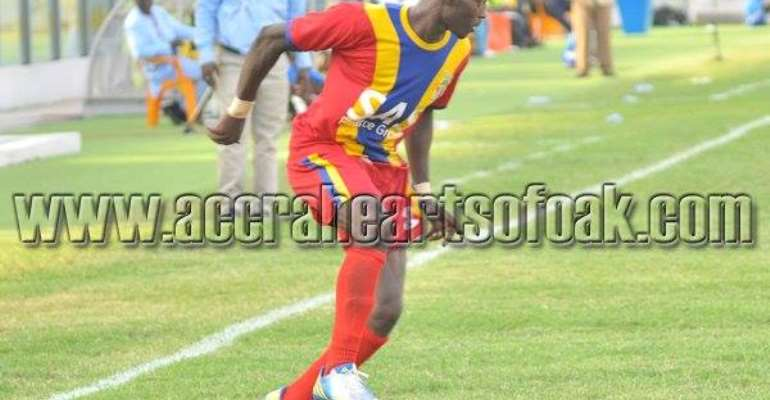 Kofi Abanga is out with injury but Gerald Wellington could make a return to face Liberty on Sunday. Photograph: Hearts of Oak official website