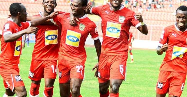 Asante Kotoko 14 Celtic 0: Toure bags a double brace, Opoku hat-trick, Owusu and others hit double