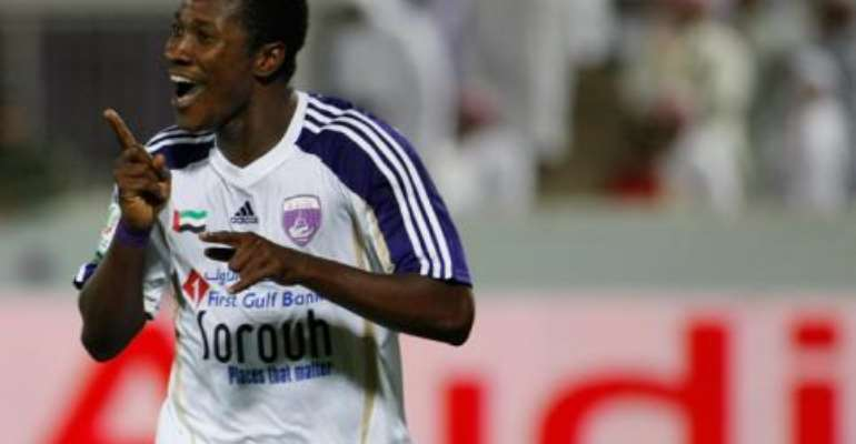 Asamoah Gyan scored two goals for Al Ain.