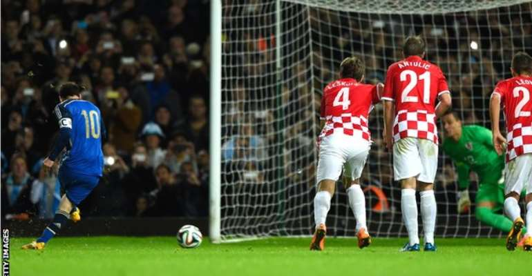 Messi gives Argentina win over Croatia