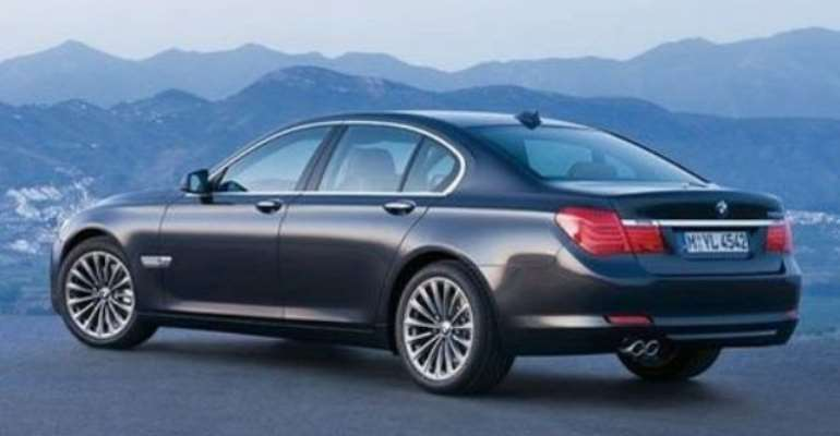 Brand new BMW 7 series for Mr. Kufuor