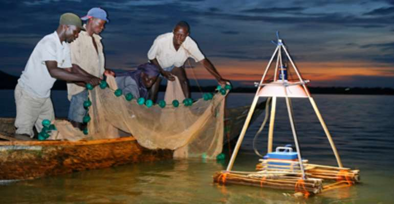 Lightning strikes two fishermen at Senya Beraku