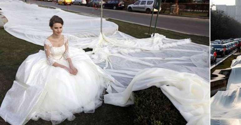 longest wedding gown