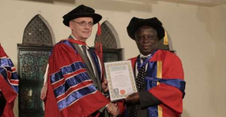 Sasso boss receives doctorate degree