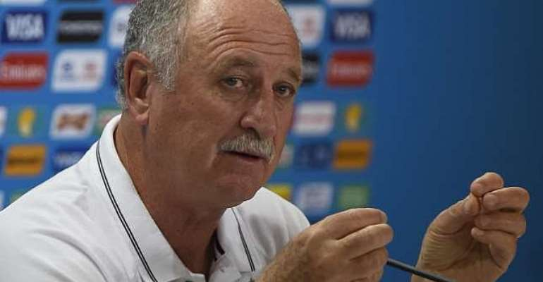 Brazil coach Luiz Felipe Scolari giving nothing away