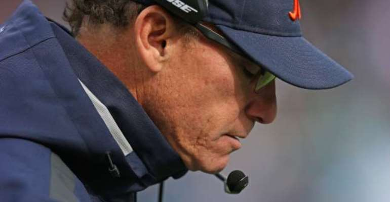 Massive support: Head coach Marc Trestman backs Chicago Bears assistants