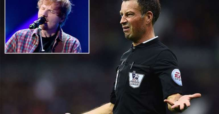 Referee Mark Clattenburg AXED after breaking Premier League rules to see Ed Sheeran in concert