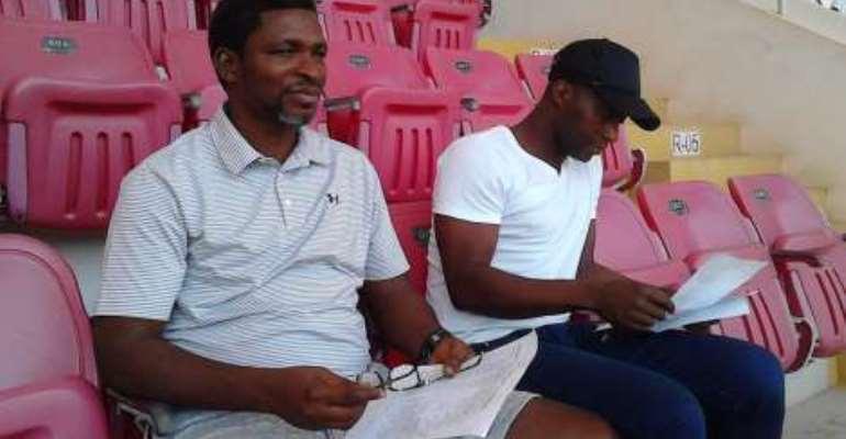 First Trust G6 Tournament: Maxwell Konadu monitors local players at Essipong Sports Stadium