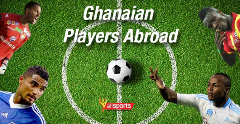 Ghanaian players abroad: Recap of the weekend games