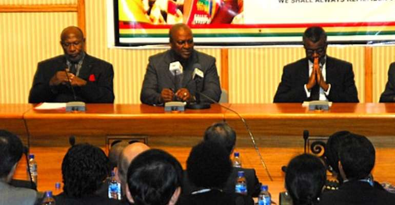 President John Dramani Mahama (middle)