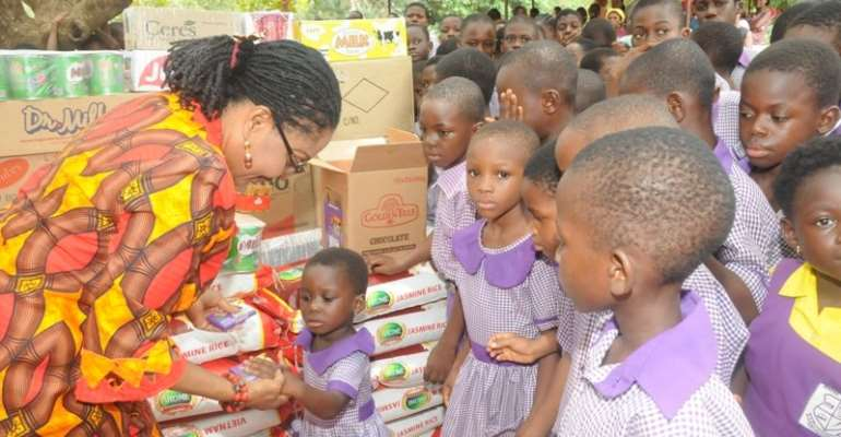 First Lady donates Easter items to children homes