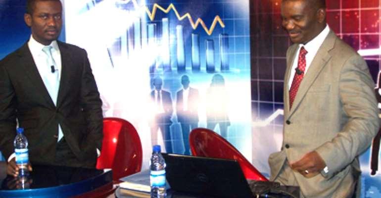 Israel Laryea (left) hosted the just-ended Joy FM MYBUSINESS 2010
