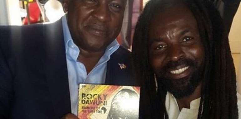 Mahama Supports Rocky Dawuni's Sixth Album Launch